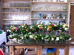 Lots of lovely flowers to take home