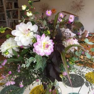 My dahlia arrangement at home