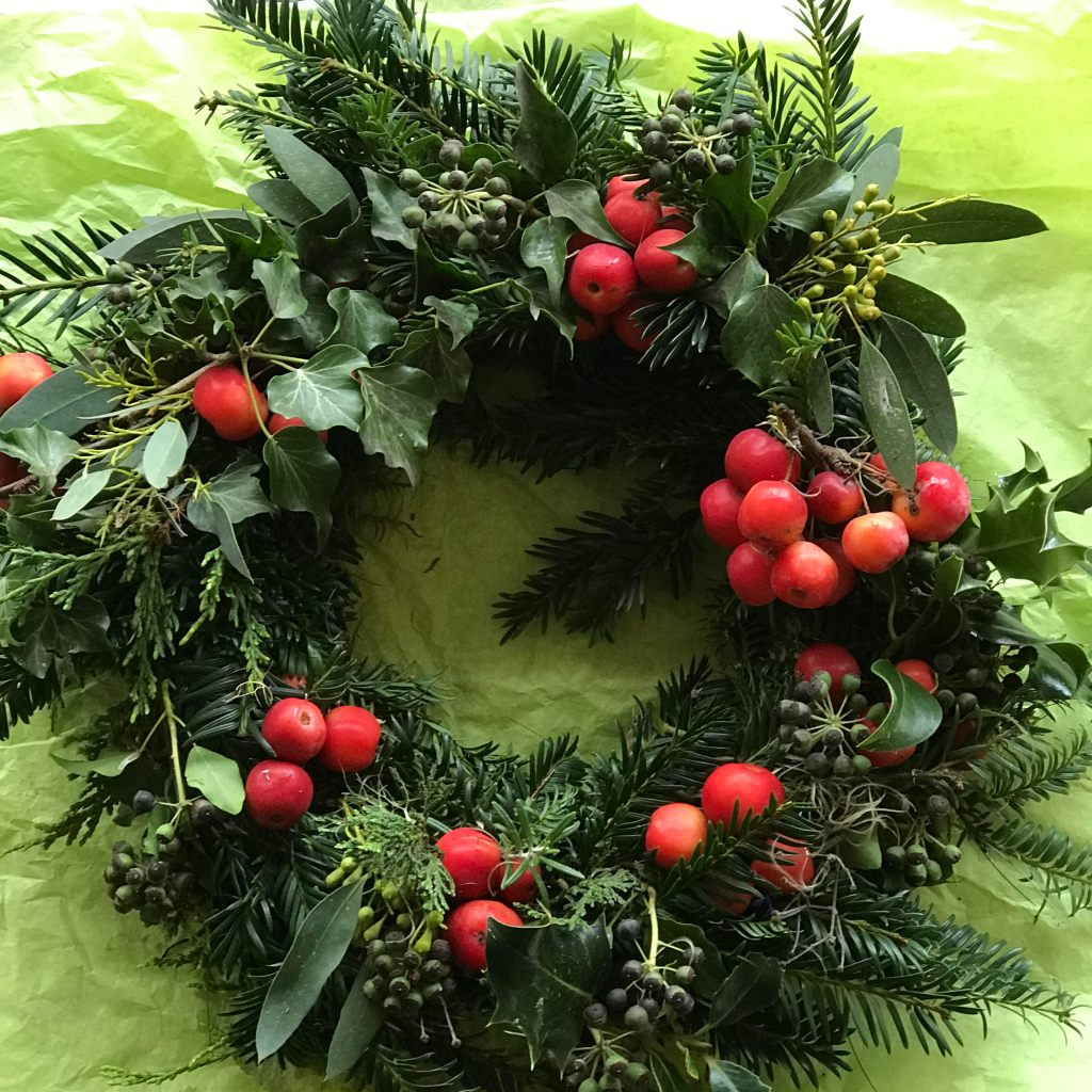 Medium size fresh wreath: £15.00